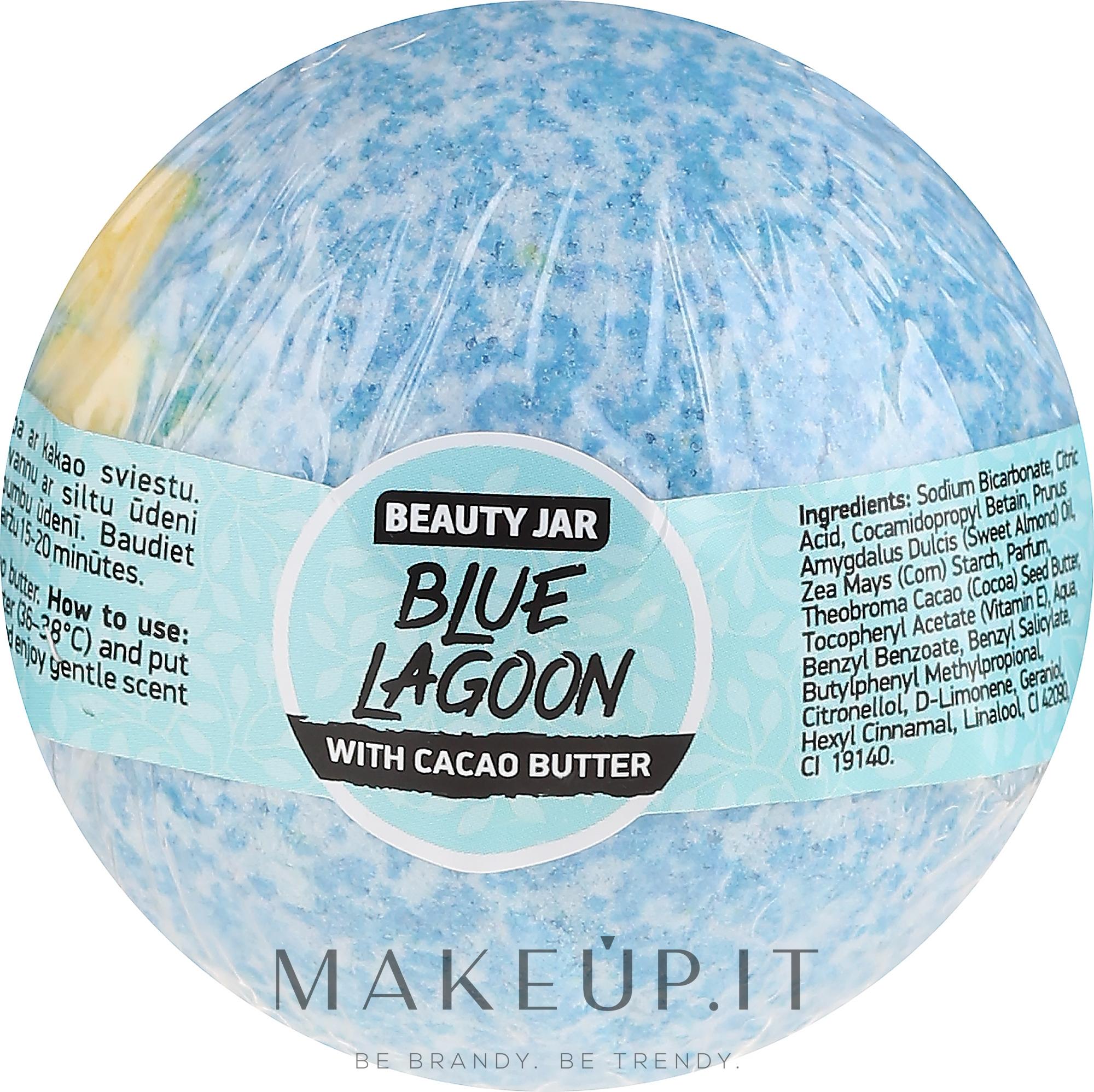 Bomba da bagno al burro di cacao - Beauty Jar Blue Lagoon — foto 150 g