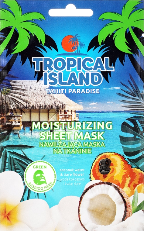 Maschera in tessuto - Marion Tropical Island Tahiti Paradise Moistirizing Sheet Mask