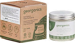 Profumi e cosmetici Dentifricio naturale - Georganics Tea Tree Natural Toothpaste