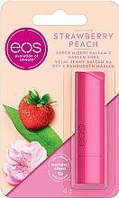 """Profumi e cosmetici Balsamo labbra con olio di bambù """"Fragola e pesca"""" - EOS Strawberry Peach Lip Balm"""