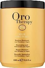 Profumi e cosmetici Maschera rivitalizzante con microparticelle d'oro attive - Fanola Oro Therapy Oro Puro Mask
