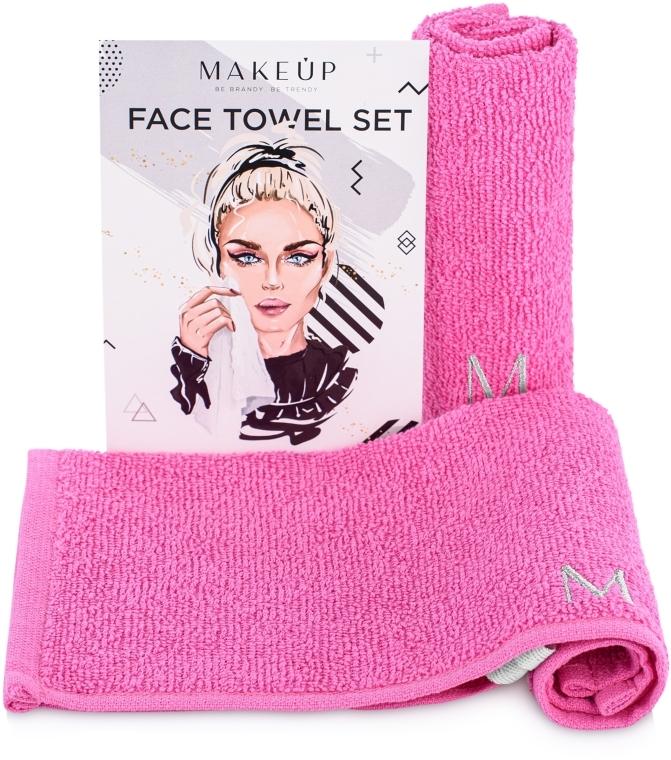 "Set asciugamani da viaggio, rosa ""MakeTravel"" - Makeup Face Towel Set"