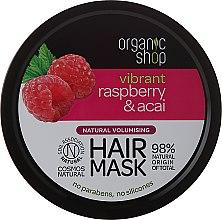 Profumi e cosmetici Maschera per capelli - Organic Shop Raspberry & Acai Hair Mask
