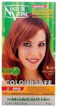 Tinta per capelli - Natur Vital PPD Free ColourSafe Hair Colour — foto 6.43 - Hazelnut Brown