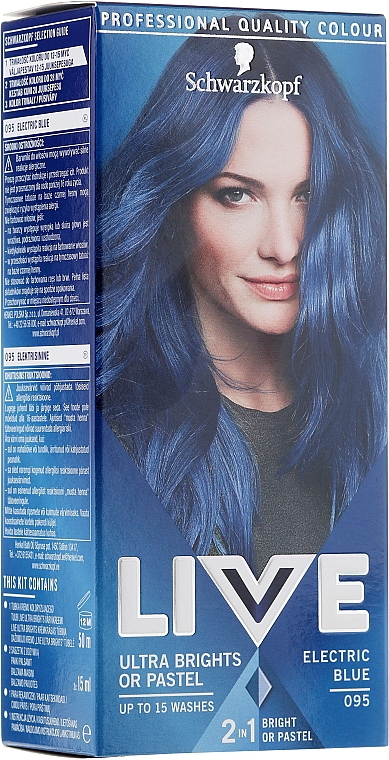 Tinta per capelli semi-permanente - Schwarzkopf Live Ultra Brights or Pastel — foto N1
