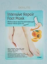 """Profumi e cosmetici Maschera-calzini piedi intensamente rigenerante """"Albicocca"""" - Skinlite Intensive Repair Foot Mask"""