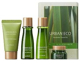 Profumi e cosmetici Kit da viaggio con estratto di lino neozelandese - The Saem Urban Eco Harakeke Travel 4 Kit (foam/25ml+ton/31ml+emul/31ml+cr/8ml)
