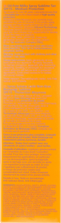 Spray corpo senza olio SPF 15 - Lancaster Sun Beauty Oil-Free Milky Spray SPF 15 — foto N3
