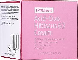 Profumi e cosmetici Crema viso con acidi e ibisco - By Wishtrend Acid-Duo Hibiscus 63 Cream