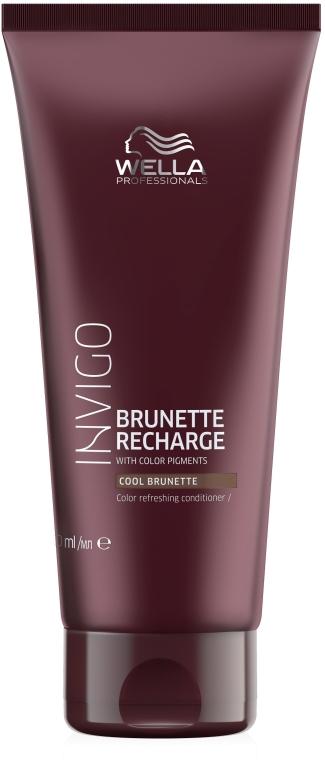 Balsamo per capelli con tonalità castani - Wella Professionals Invigo Color Recharge Cool Brunette Conditioner — foto N1