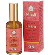 """Profumi e cosmetici Olio per viso e corpo """"Hibiscus"""" - Khadi"""