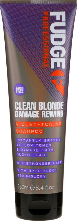 Shampoo antigiallo - Fudge Clean Blonde Damage Rewind Shampoo