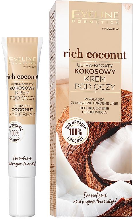 Crema contorno occhi al cocco - Eveline Cosmetics Rich Coconut Eye Cream