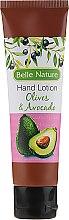 Profumi e cosmetici Balsamo per le mani, con profumo di oliva e avocado - Belle Nature Hand Lotion Olives&Avocado
