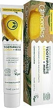 Profumi e cosmetici Dentifricio sbiancante con limone e menta - Nordics Organic & Whitening Toothpaste Lemon + Mint
