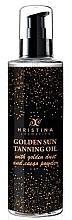 Profumi e cosmetici Olio abbronzante dorato - Hristina Cosmetics Golden Sun Tanning Oil