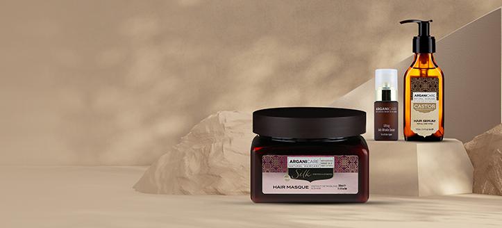 Acquistando due prodotti Arganicare, ricevi in regalo maschera capelli alle proteine di seta