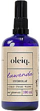 Profumi e cosmetici Idrolato lavanda per viso, corpo e capelli - Oleiq Hydrolat Lavender