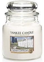 Profumi e cosmetici Candela in vetro - Yankee Candle Clean Cotton