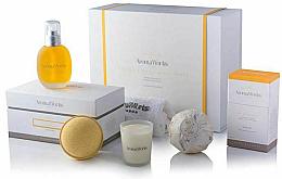 Profumi e cosmetici Set - AromaWorks Serenity Body Indulgence Gift Set (bath/bomb/2x250g + candle/75g + b/oil/100ml + flannel)
