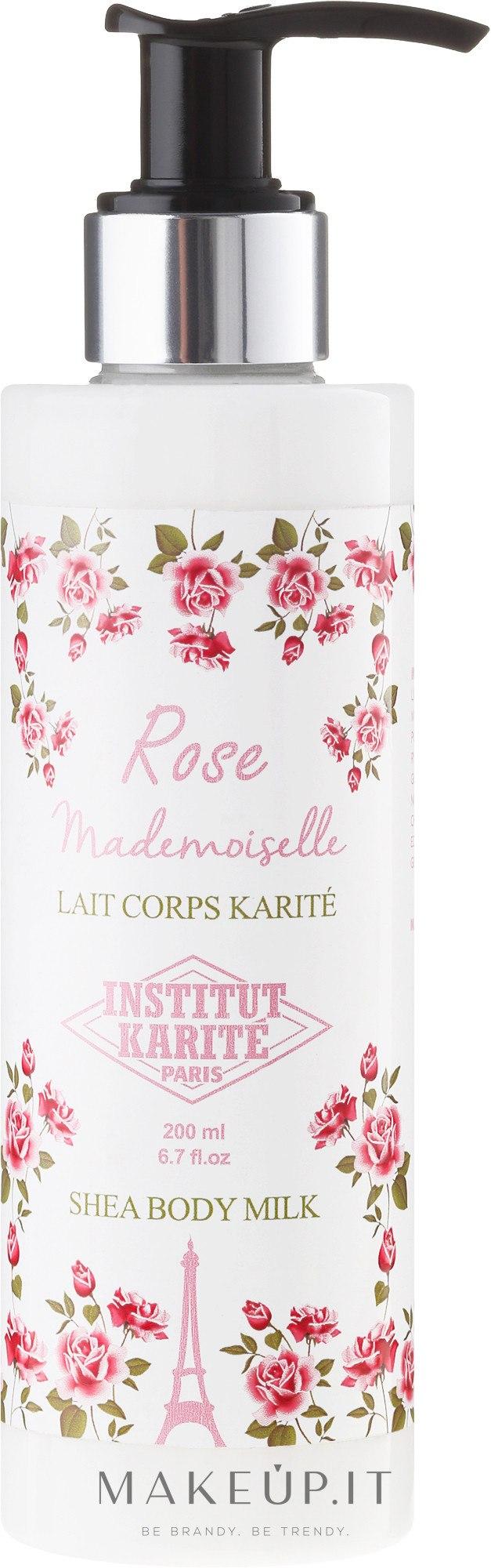 Latte corpo - Institut Karite Rose Mademoiselle Shea Body Milk — foto 200 ml