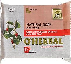 Profumi e cosmetici Sapone naturale con estratto di fragoline di bosco e argilla rossa - O'Herbal Natural Soap