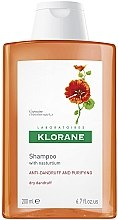 Profumi e cosmetici Shampoo antiforfora secco con estratto di nasturzio - Klorane Shampoo With Nasturtium Extract