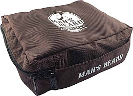 Profumi e cosmetici Beauty case, da viaggio, da uomo, tessuto, MB210 - Man's Beard Brown Men's Toiletry Bag