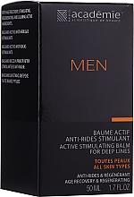 Profumi e cosmetici Crema-balsamo dopobarba attivo stimolante - Academie Men Active Stimulating Balm for Deep Lines
