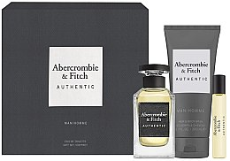 Profumi e cosmetici Abercrombie & Fitch Authentic Men - Set (edt/100ml + edt/15ml + sh/gel/200ml)