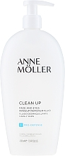 Profumi e cosmetici Fluido struccante - Anne Moller Pro-Defense Makeup Remover Fluid Face and Eyes