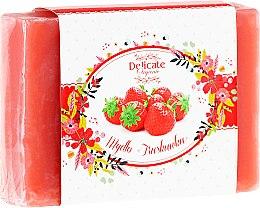 """Profumi e cosmetici Sapone """"Fragola"""" - Delicate Organic Aroma Soap"""