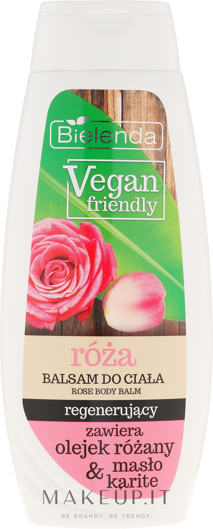 "Lozione corpo ""Rosa"" - Bielenda Vegan Friendly Regenerating Rose Body Balm — foto 400 ml"