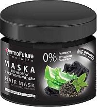 Profumi e cosmetici Maschera per capelli al carbone attivo - DermoFuture Hair Mask With Activated Carbon