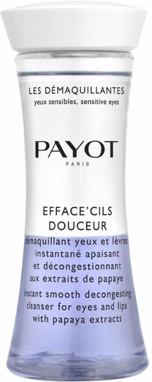 Detergente bifasico con estratto di papaia per occhi e labbra - Payot Les Demaquillantes Efface Cils Douceur Instant Smooth Decongesting Cleanser