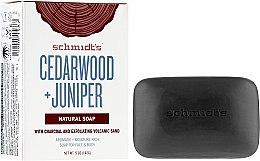 Profumi e cosmetici Sapone - Schmidt's Naturals Bar Soap Cedarwood Juniper With Charcoal