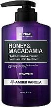 """Profumi e cosmetici Condizionante capelli """"Vaniglia ambrata"""" - Kundal Honey & Macadamia Amber Vanilla Treatment"""