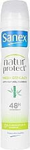 Profumi e cosmetici Deodorante antitraspirante con estratto di bambù - Sanex Natur Protect 0% Fresh Bamboo Deo Vapo