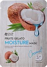 Profumi e cosmetici Maschera viso idratante - SNP Fruits Gelato Moisture Mask Coconut