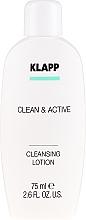 Profumi e cosmetici Emulsione detergente - Klapp Clean & Active Cleansing Lotion