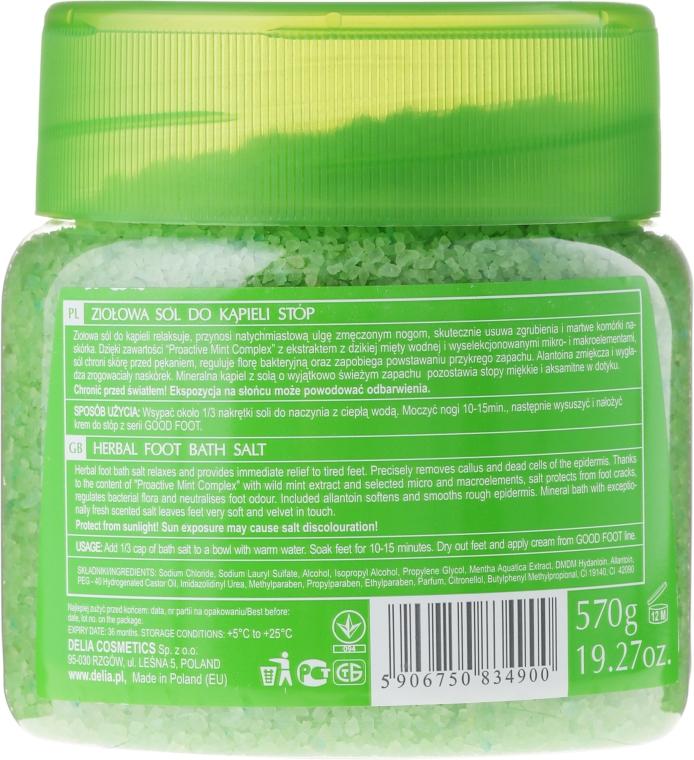 Sale per i piedi - Delia Cosmetics Good Foot Herbal Foot Bath Salt — foto N2