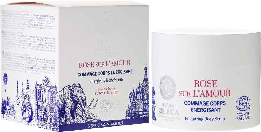 Scrub corpo - Natura Siberica Mon Amour Rose sur L`Amour Energizing Body Scrub