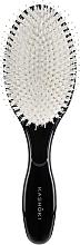 Profumi e cosmetici Spazzola per capelli, con setole naturale, ovale - Kashoki Smooth White Detangler XL