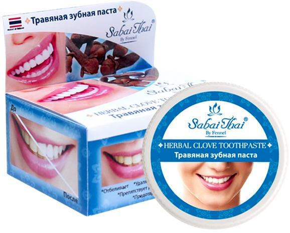 Dentifricio con chiodi di garofano - Sabai Thai Herbal Clove Toothpaste