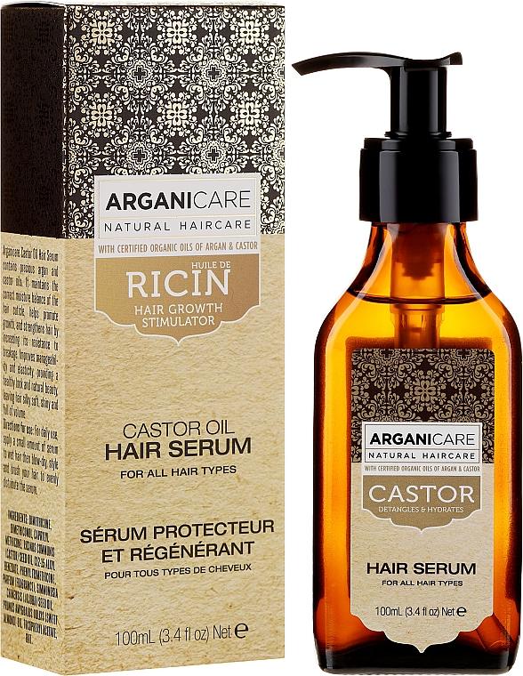 Siero per la crescita dei capelli - Arganicare Castor Oil Hair Serum