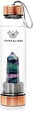 Profumi e cosmetici Borraccia alla fluorite, 550 ml - Crystallove Fluorite Bottle Rose Gold