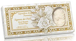 """Profumi e cosmetici Set di sapone naturale """"Bouquet di fiori"""" - Saponificio Artigianale Floral Bouquet Soap (soap/3pcsx125g)"""