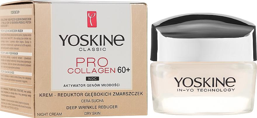 Crema da notte per pelli secche e sensibili - Yoskine Classic Pro Collagen Face Cream 60+