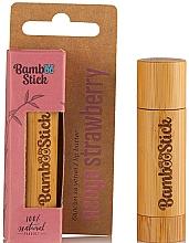 Profumi e cosmetici Burro labbra alla fragola - Bamboostick Strawberry Bamboo Natural Care Lip Butter