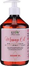 Profumi e cosmetici Olio per massaggi - Eco U Massage Oil Sesame Oil